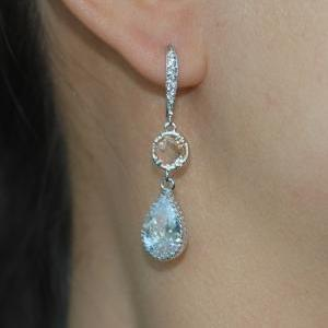 Cubic Zirconia Detailed Earring Hoo..