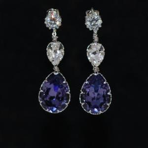 Round Cubic Zirconia Earrings with ..