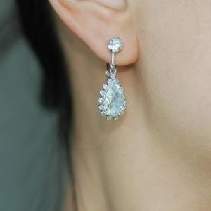 Non Pierced Clip On Crystal Earring..