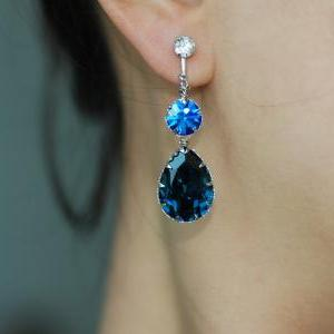 Crystal Screw Back Clip On Earring ..