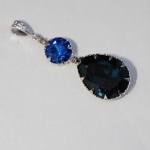 CZ Detailed Pendant with Swarovski ..