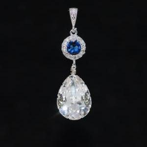 Cubic Zirconia Detailed Sapphire Bl..