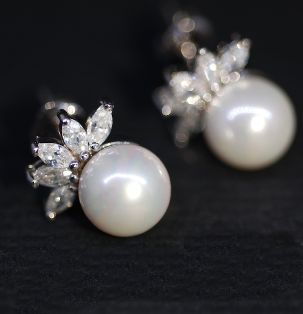 Ubic Zirconia Earrings With White Pearl Wedding Jewelry Bridal Bridesmaid Gift Bride E297